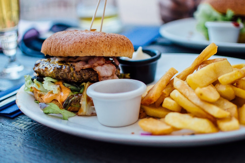 burger and fries cheat meal