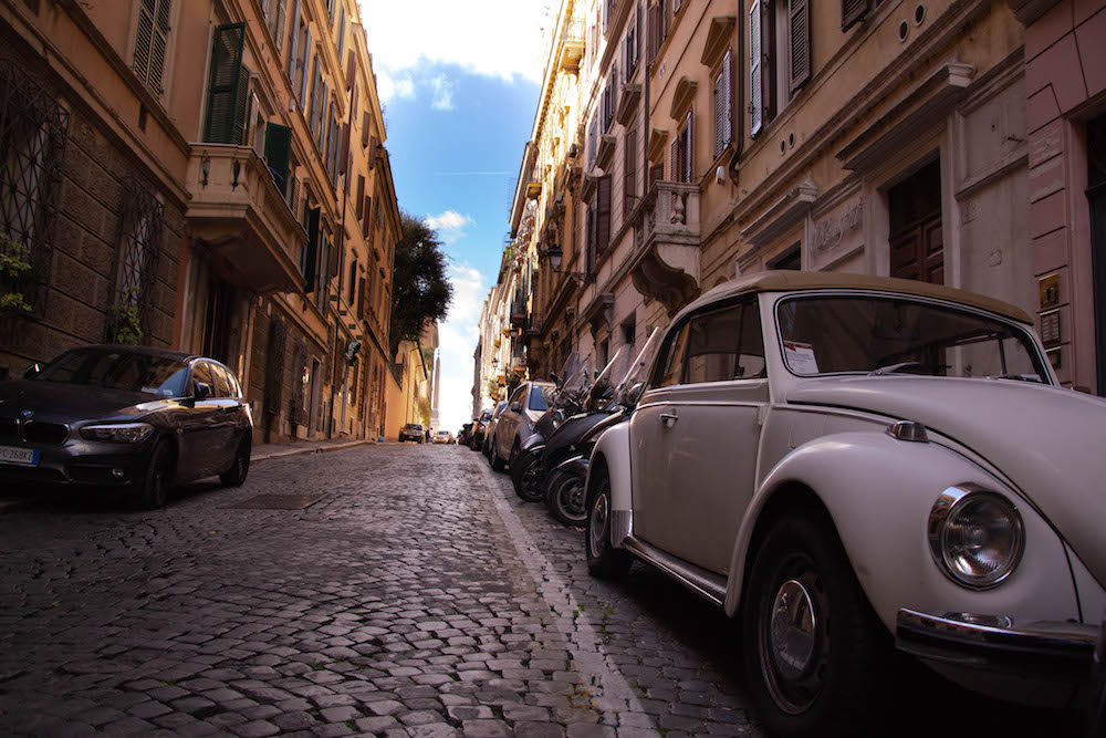 Rome Coccinelle car street
