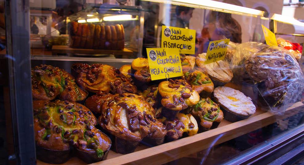 Rome pasteria colombe pistachio