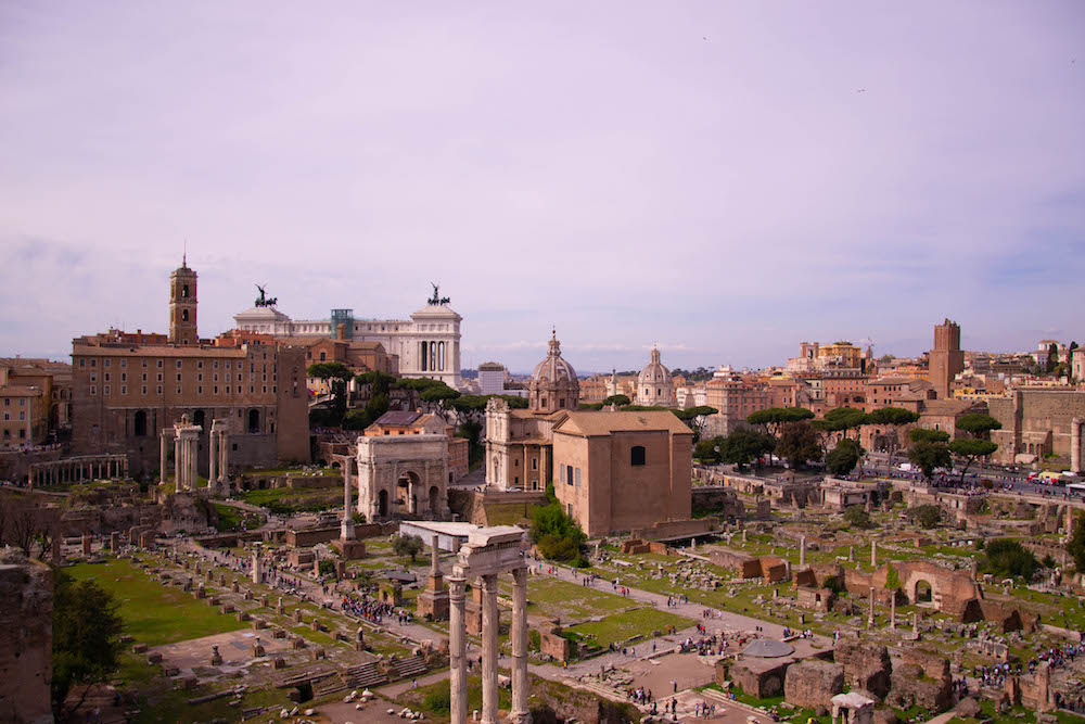 palatino hill and roman forum rome