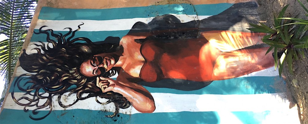 tulum beach street paint wall